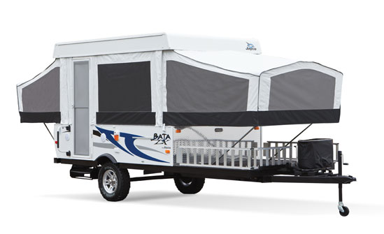 pop up camper toy hauler