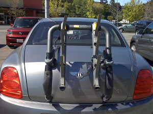 trunk-mounted bike rack