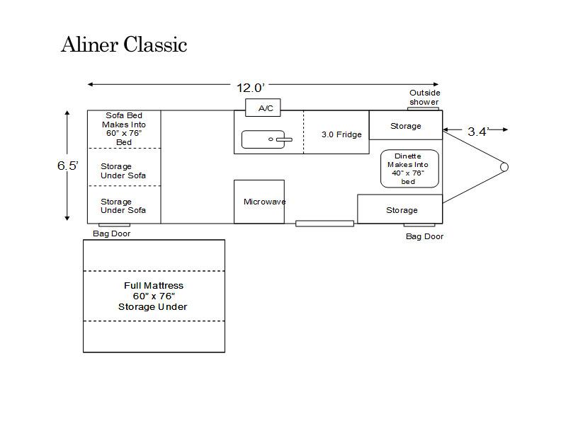 aliner classic floor plan pop up cers