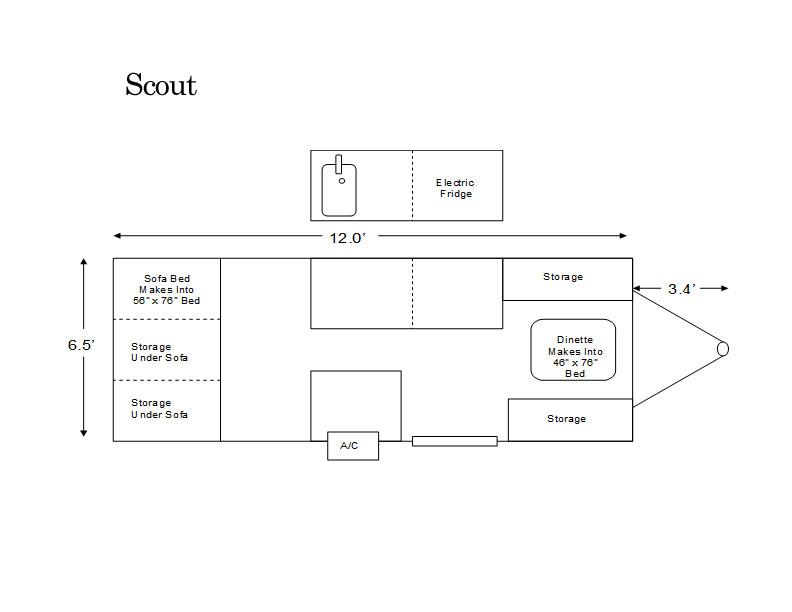 Aliner Scout Floor Plan Pop Up Campers