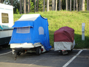 motorcycle pop up camper