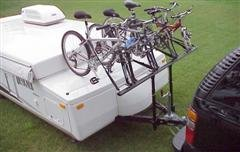 pop up camper bike rack