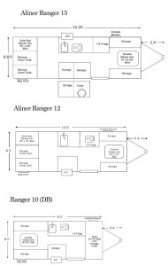 Aliner Ranger floor plans