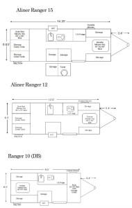 Aliner Ranger floor plans