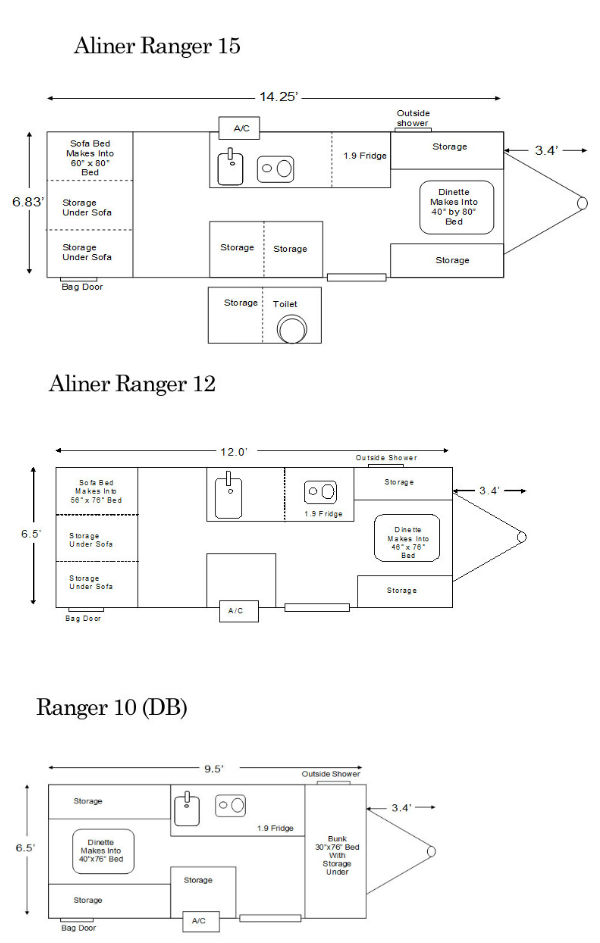 Ranger Floor Plans Pop Up Campers