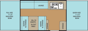 Clipper 2107LS floor plan
