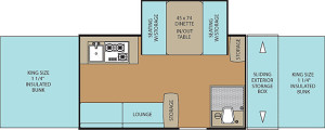 Clipper Classic 1285SST floor plan