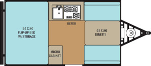 Clipper Hardside 12RB floor plan