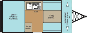 Clipper Hardside 12RBST floor plan