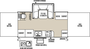 forest river high wall floor plan