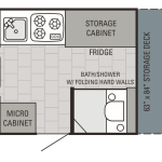 Jay Series Sport Hardwall 12BFD Floor Plan