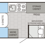 Jay Series Sport Hardwall 12BMD Floor Plan