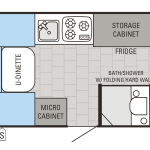 Jay Series Sport Hardwall 12BSB Floor Plan